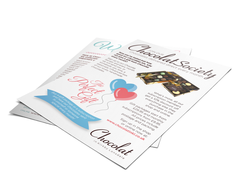 Chocolate Society flyer design