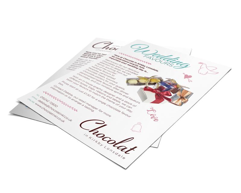 Wedding Favours leaflet design