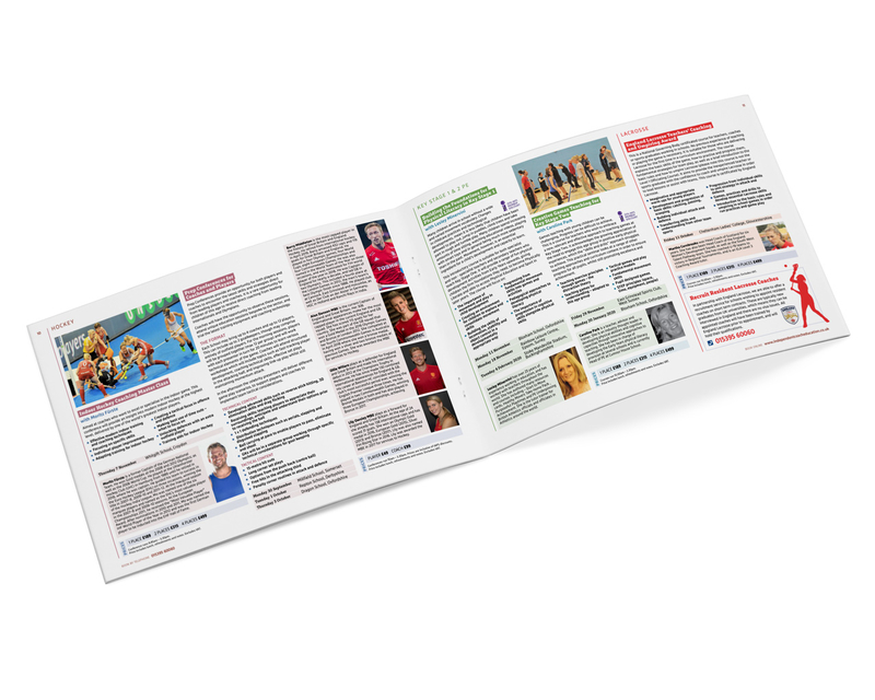 School sport training brochure - centre pages