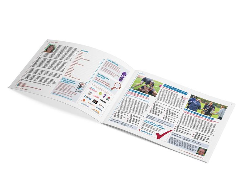 School sport training brochure - inner pages