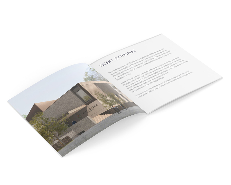 Job vacancy brochure design - inner pages