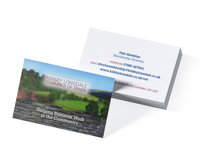 Chamber of trade business card design