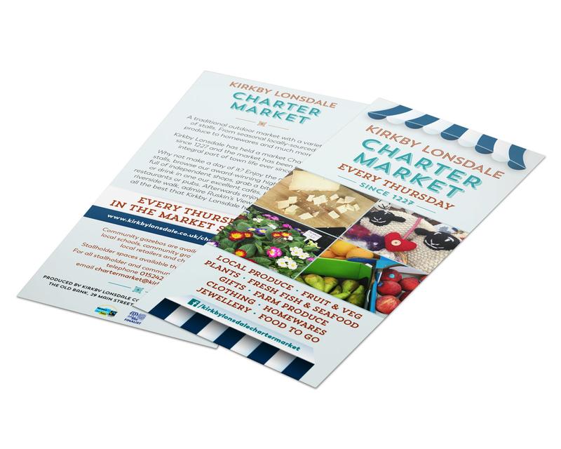 Charter Market leaflet design