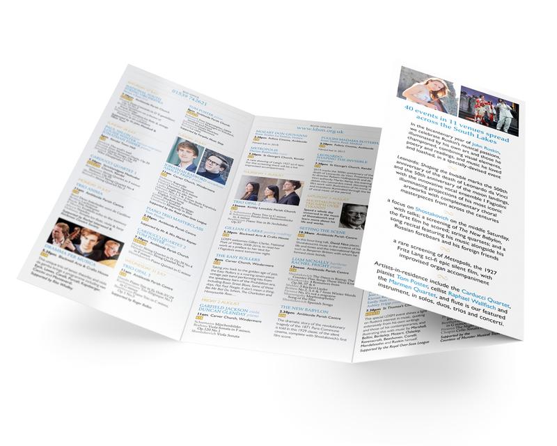 Music Festival programme leaflet - inner