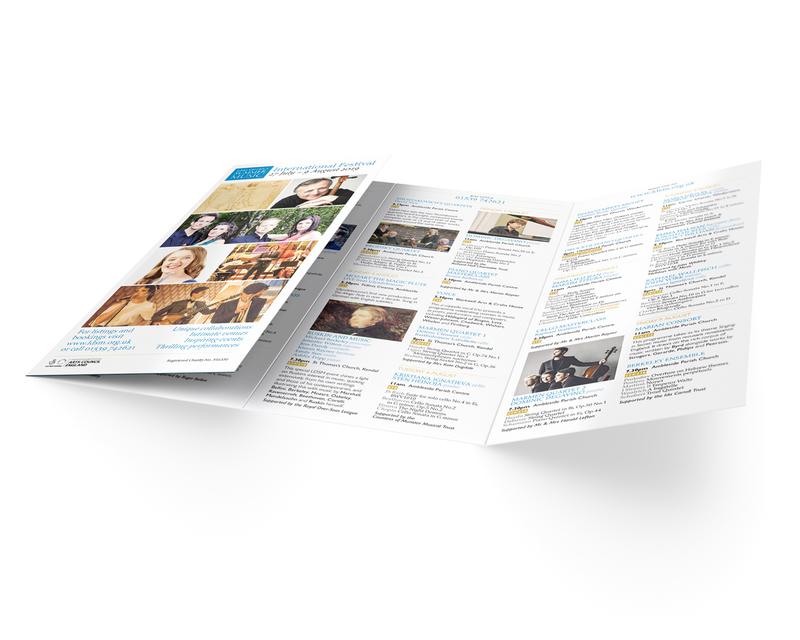 Music festival leaflet design - outer