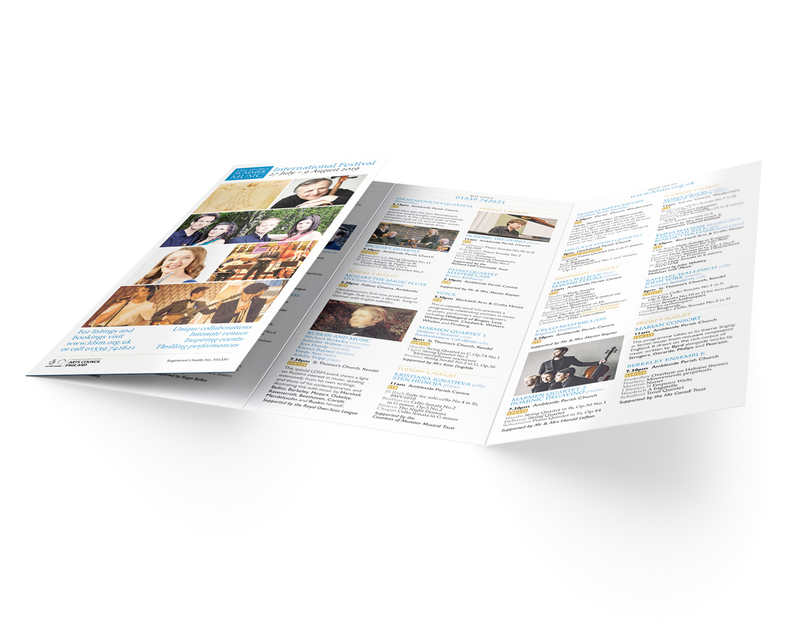 Music Festival programme leaflet - outer