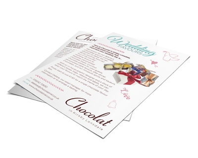 Wedding Favours leaflet design
