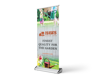 Watering cans rollup banner design