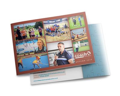 School sport training brochure - cover