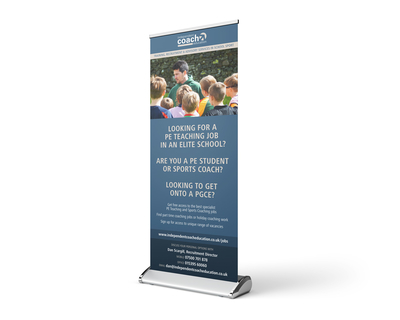 Sports education rollup banner design