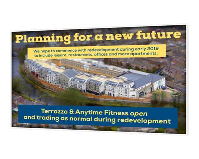 Building redevelopment signage