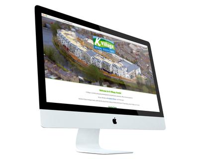 Website holding page design - desktop view