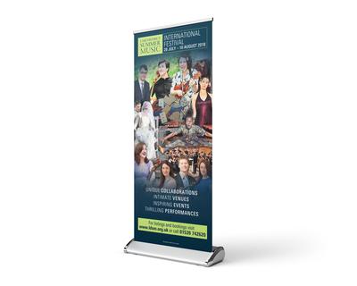 Festival rollup banner design