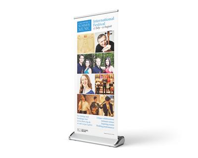 Music festival pull-up banner design