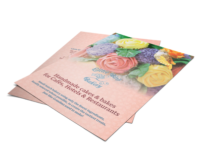 Little Bird Bakery A5 leaflet design