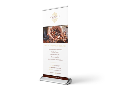 Xocolate rollup banner